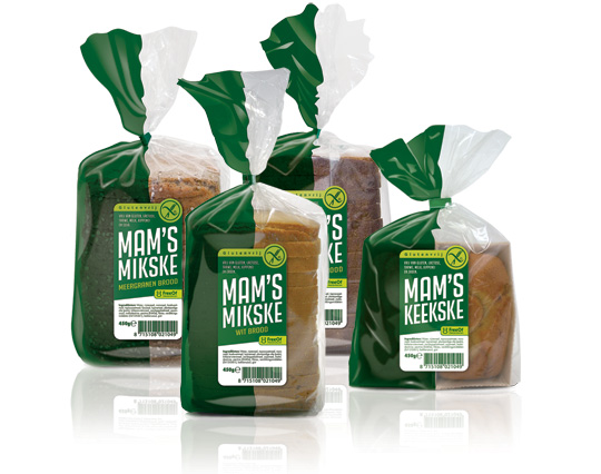 FreeOf packaging design gluten-free bread