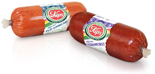 Kips label banderol packaging design