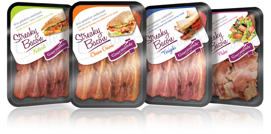 Gourmande, Streaky Bacon labels