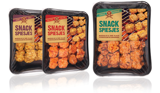 Labels for Snack Skewers by Stepfive for Zwanenberg Food Group