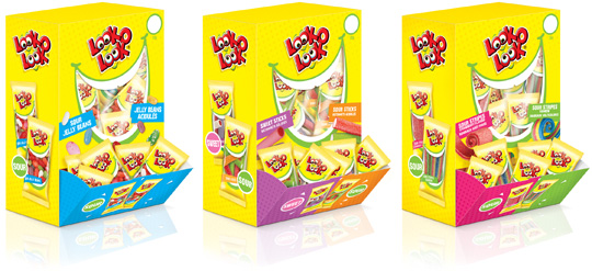 Look-O-Look Out of Home Candy boxes Packaging Design Stepfive