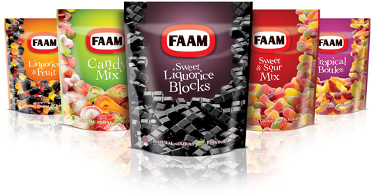 Faam doypack packaging design Stepfive