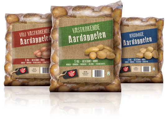Aldi packaging design potatoes Stepfive
