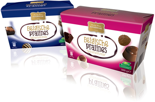 Packaging design Aldi pralines chocolade Stepfive