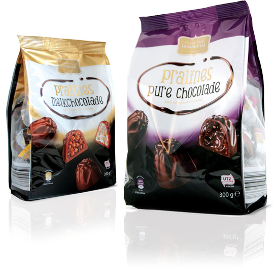 Aldi bonroyaal pralines packaging design Stepfive