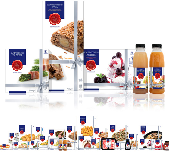 Aldi Prestige packaging design Stepfive