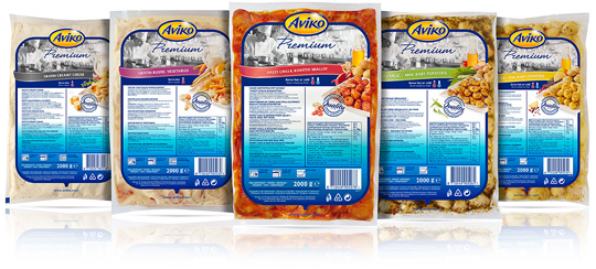 Aviko Foodservice packaging design Stepfive