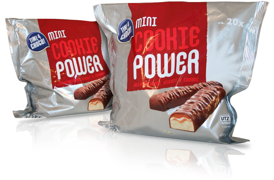 Stepfive packaging design Aldi Cookie Power Time4Choco
