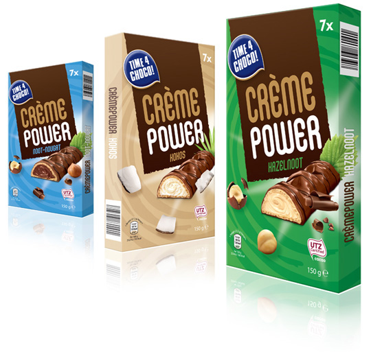 Packaging design Aldi Crème Power Stepfive